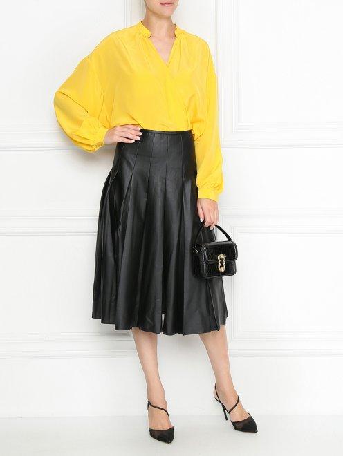 Блуза из шелка свободного кроя - Общий вид