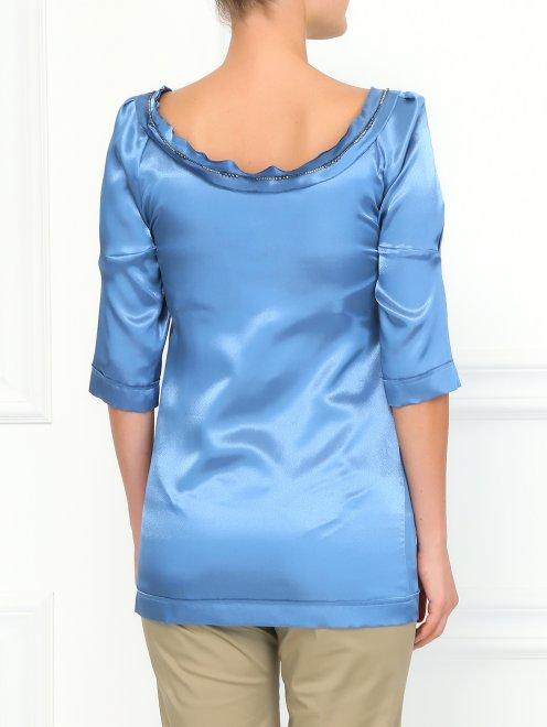 Блуза декорированная бисером  - Модель Верх-Низ1