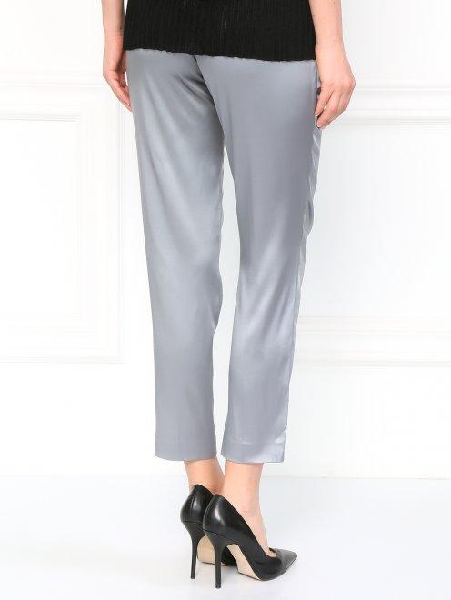Классические брюки из шелка - Модель Верх-Низ1