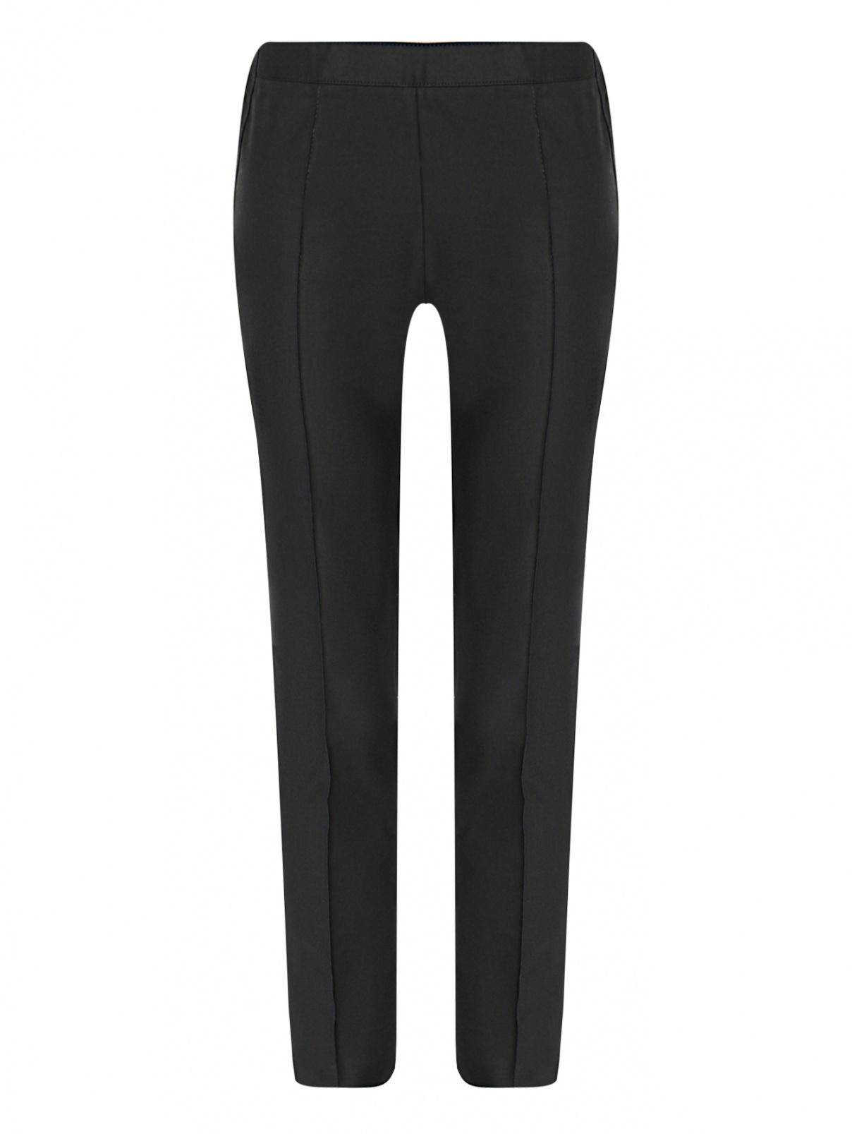 Укороченные брюки из хлопка BOUTIQUE MOSCHINO  –  Общий вид  – Цвет:  Черный