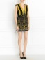 Платье-мини из фактурной ткани с вышивкой и аппликацией Barbara Bui  –  Модель Общий вид
