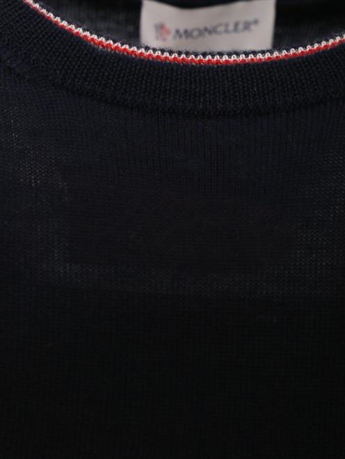 Джемпер из шерсти мелкой вязки - Деталь