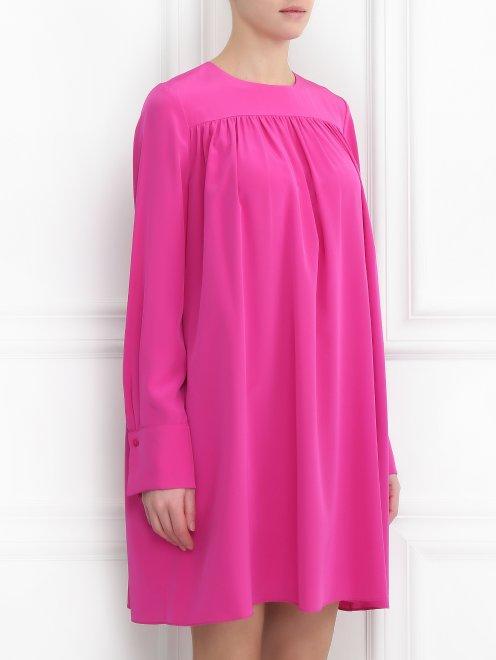 Платье из шелка свободного силуэта - МодельВерхНиз