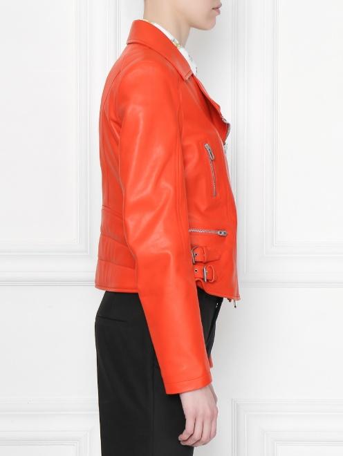 Куртка кожаная на молнии  - МодельВерхНиз2