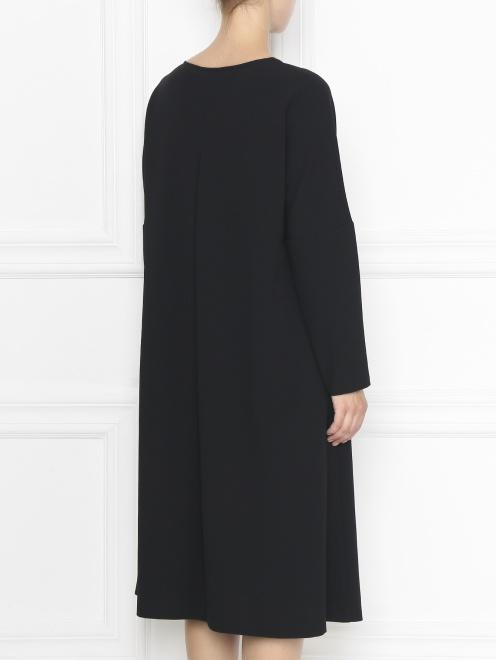 Платье-футляр с длинными рукавами - МодельВерхНиз1