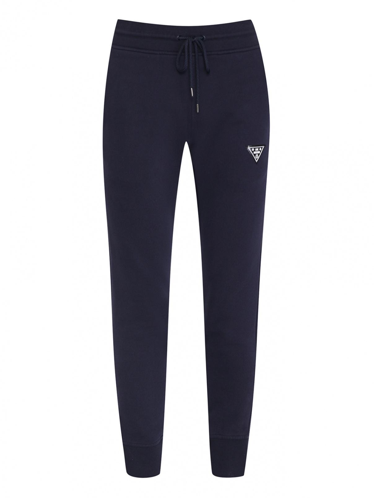 Трикотажные брюки на резинке Love Moschino  –  Общий вид  – Цвет:  Синий