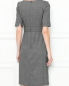 Платье-футляр из шерсти с короткими рукавами Brooks Brothers  –  МодельВерхНиз1