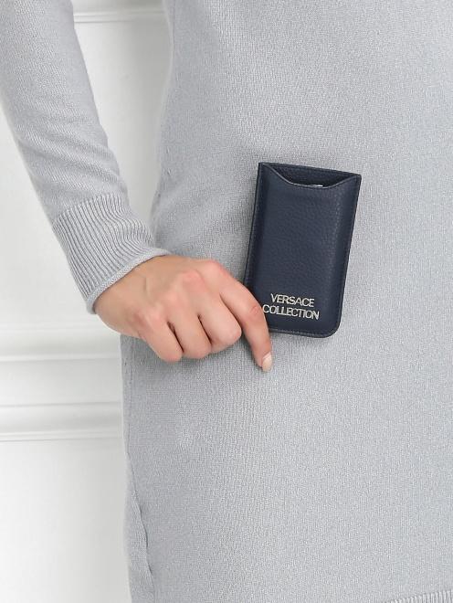 Чехол для IPhone 4 из кожи - Модель Верх-Низ