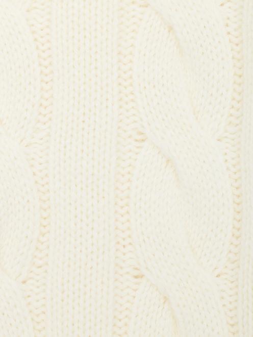 Джемпер из шерсти с узорной вязкой  - Деталь