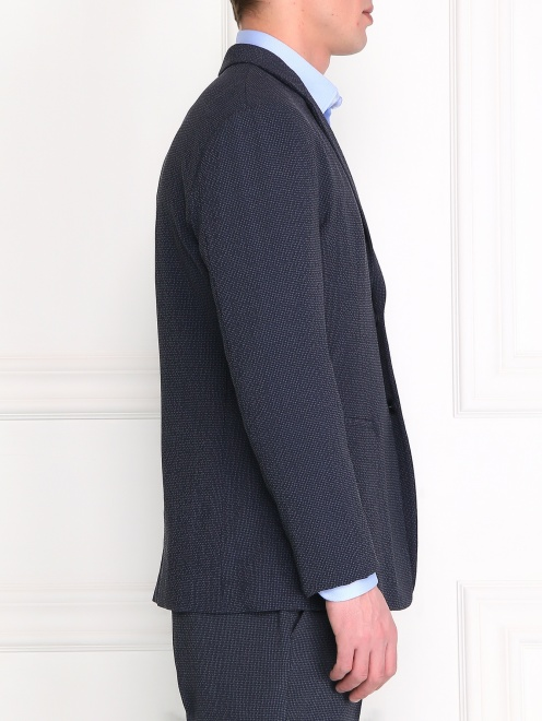 Пиджак из шерсти и шелка - Модель Верх-Низ2