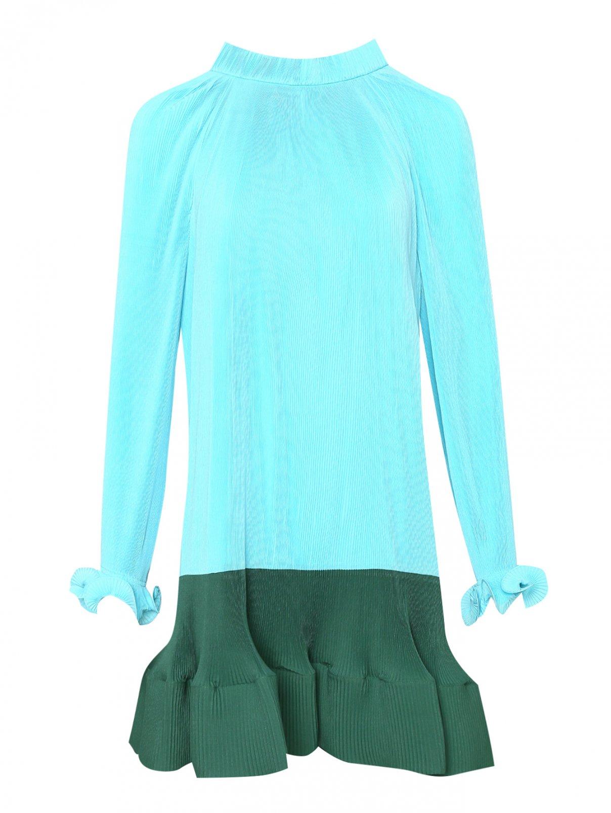 Платье из плиссированной ткани TIBI  –  Общий вид