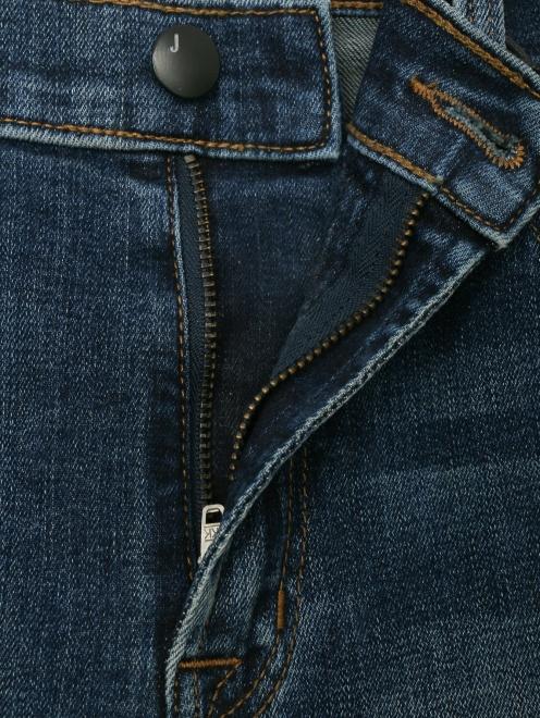 Укороченные джинсы с бахромой - Деталь1