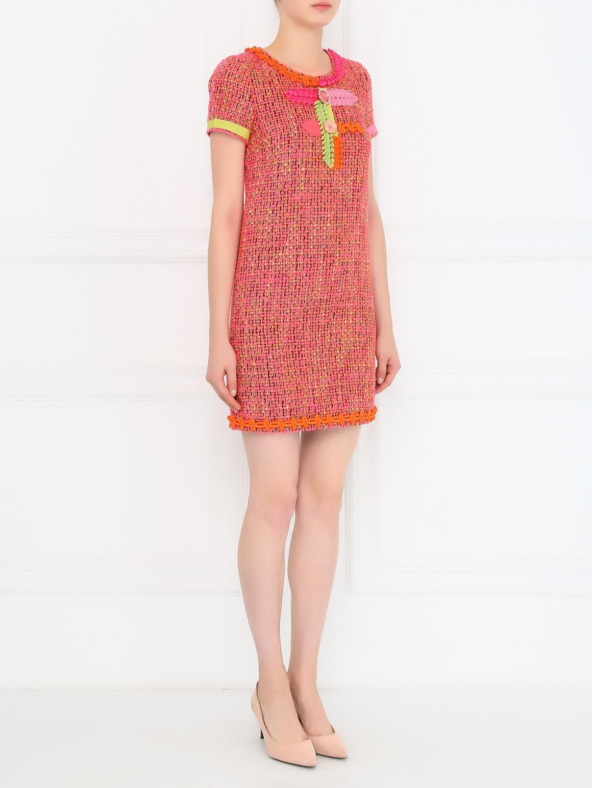 Платье-мини с аппликацией и фурнитурой Moschino Boutique  –  Модель Общий вид