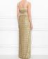 Платье-макси на бретелях из фактурного материала Alberta Ferretti  –  МодельВерхНиз1
