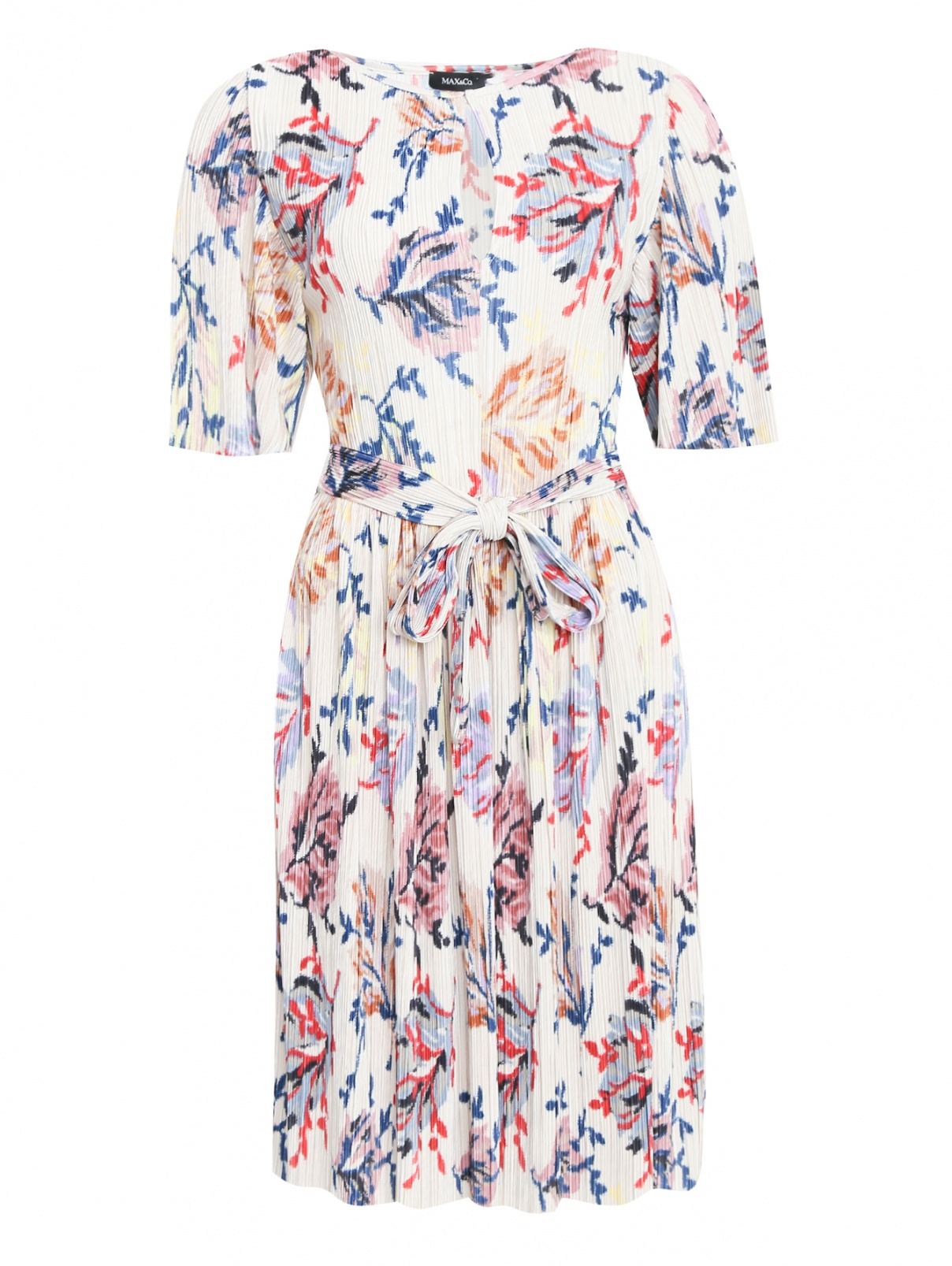 Платье-миди с узором Max&Co  –  Общий вид