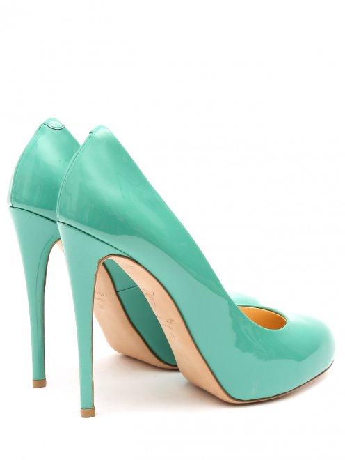 Туфли из лаковой кожи на высоком каблуке - Обтравка2