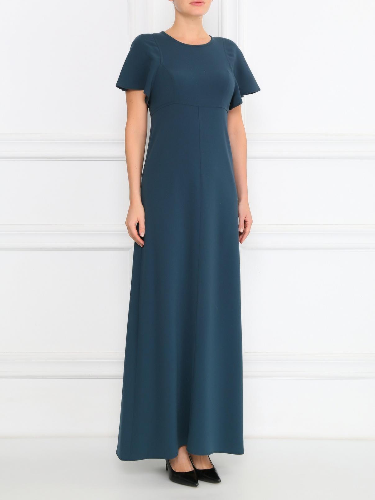 Однотонное платье-макси с коротким рукавом Max&Co  –  Модель Общий вид