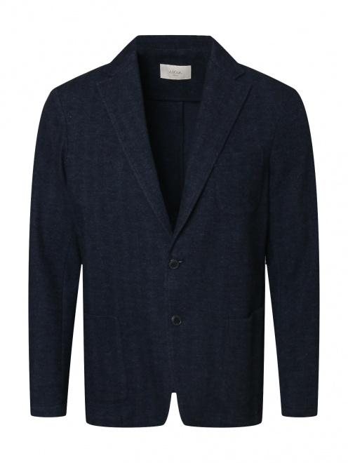 Трикотажный пиджак из смеси хлопка и шерсти  - Общий вид