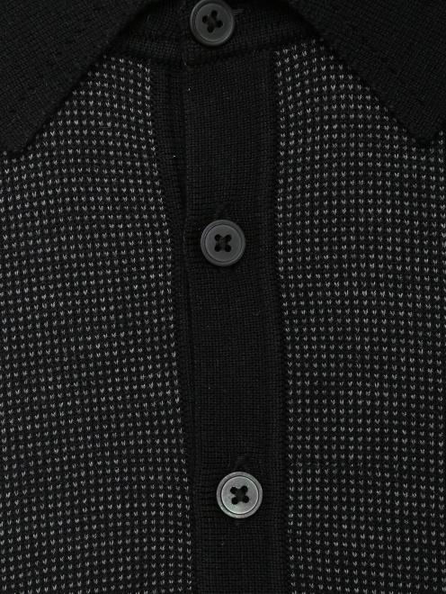 Джемпер с воротом поло из шерсти, шелка и кашемира - Деталь