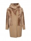 Пальто из шерсти и искусственного меха DROMe  –  Общий вид