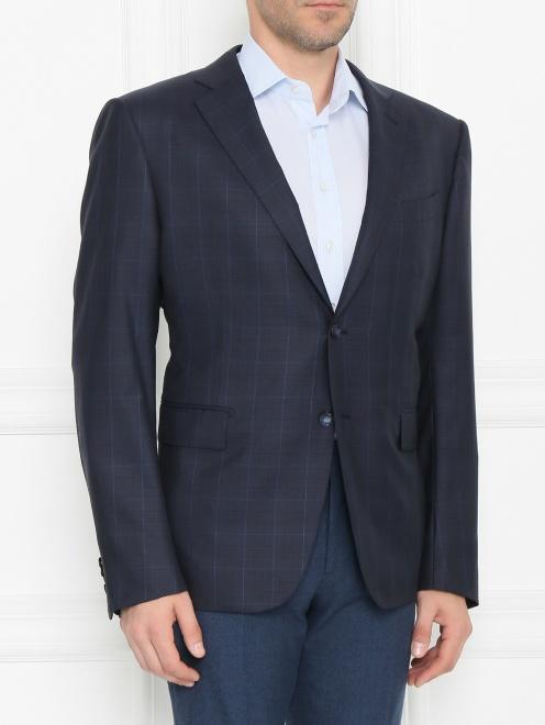 Пиджак из шерсти с узором - МодельВерхНиз