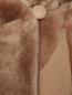 Пальто из шерсти и искусственного меха DROMe  –  Деталь
