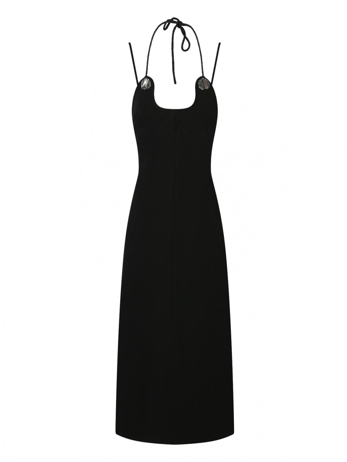 Платье прямого кроя без рукавов 3.1 Phillip Lim  –  Общий вид  – Цвет:  Черный