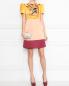Платье из атласа с отделкой пайетками Elisabetta Franchi  –  МодельОбщийВид