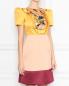 Платье из атласа с отделкой пайетками Elisabetta Franchi  –  МодельВерхНиз
