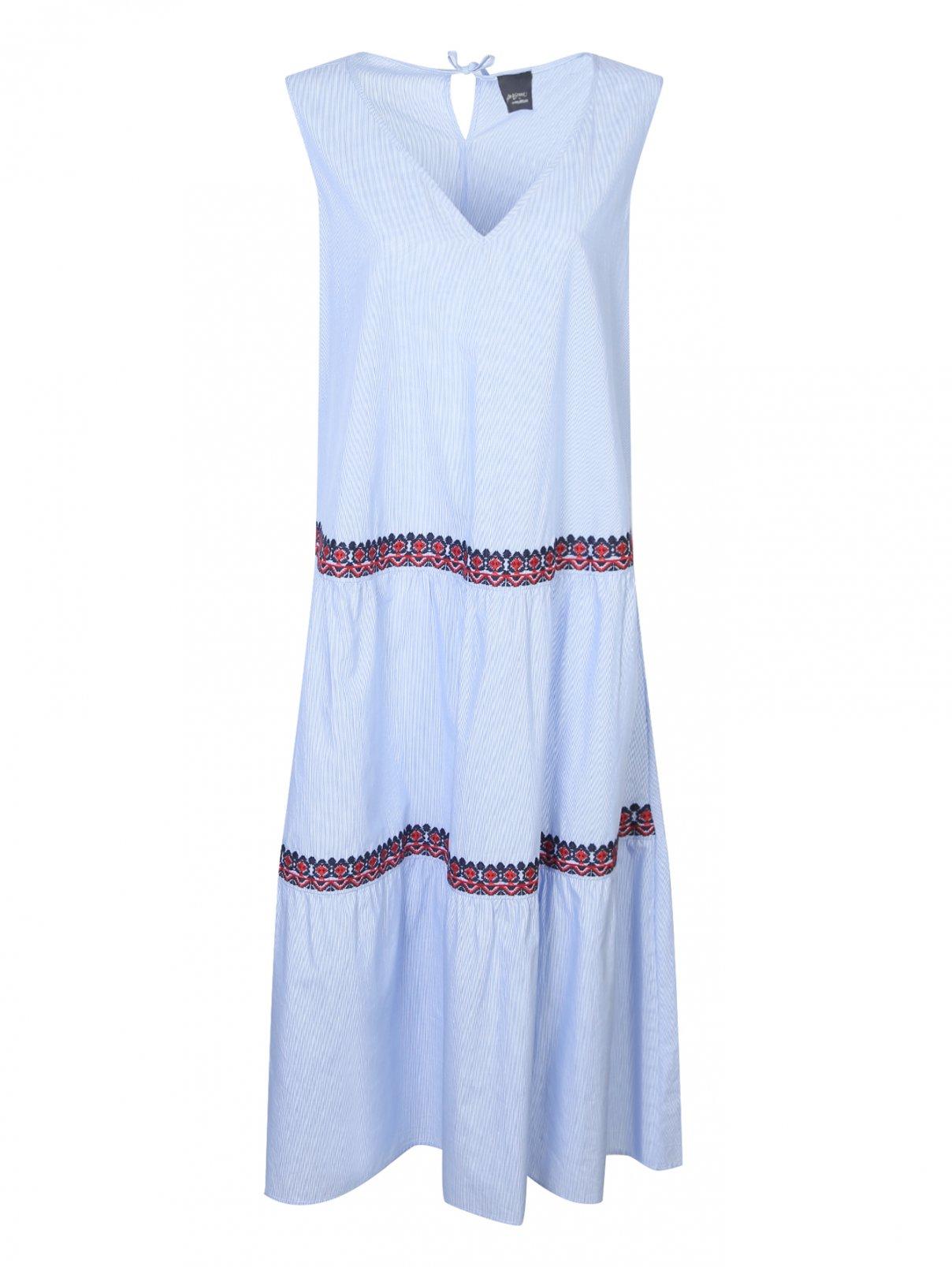 Платье из хлопка с вышивкой Persona by Marina Rinaldi  –  Общий вид