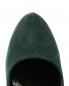 Туфли из замши на танкетке со скрытой платформой декорированные шипами Giacomorelli  –  Обтравка3