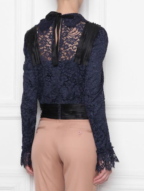 Кружевная блуза с декором - МодельВерхНиз1
