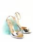Босоножки из лаковой кожи с устойчивым каблуком декорированным перьями Moschino Couture  –  Общий вид