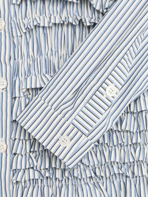 """Удлиненная рубашка из хлопка с узором """"полоска"""" - Деталь1"""