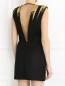 Платье-мини из фактурной ткани с вышивкой и аппликацией Barbara Bui  –  Модель Верх-Низ1