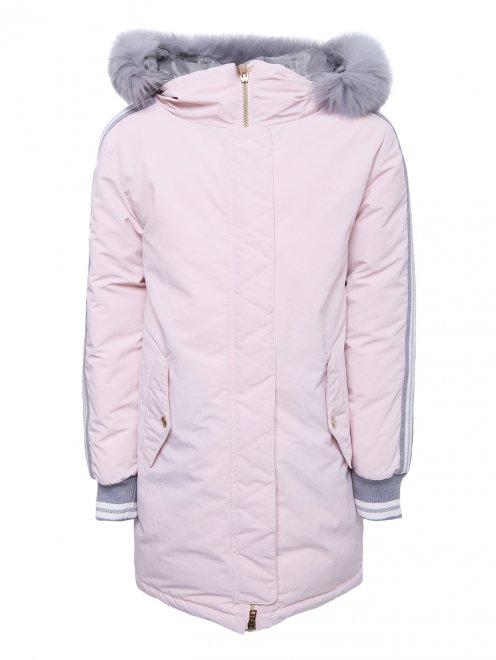 Куртка удлиненная с капюшоном - Общий вид