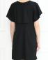 Платье-мини из шерсти свободного кроя с карманами Emporio Armani  –  МодельВерхНиз1