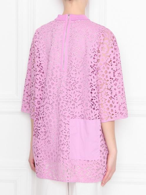 Блуза из кружева с накладным карманом - МодельВерхНиз1