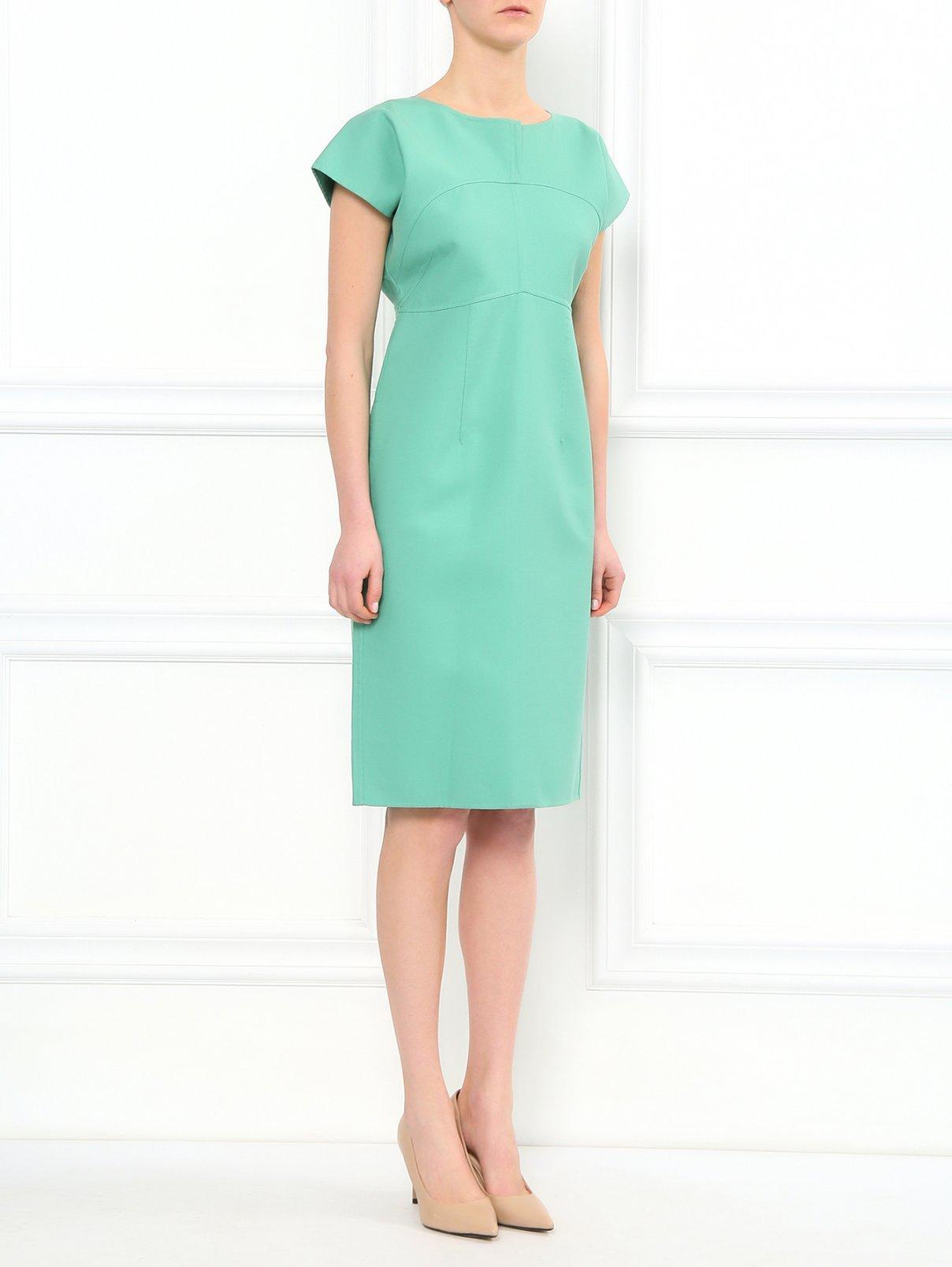 Платье-миди  свободного фасона из  хлопка Jil Sander  –  Модель Общий вид