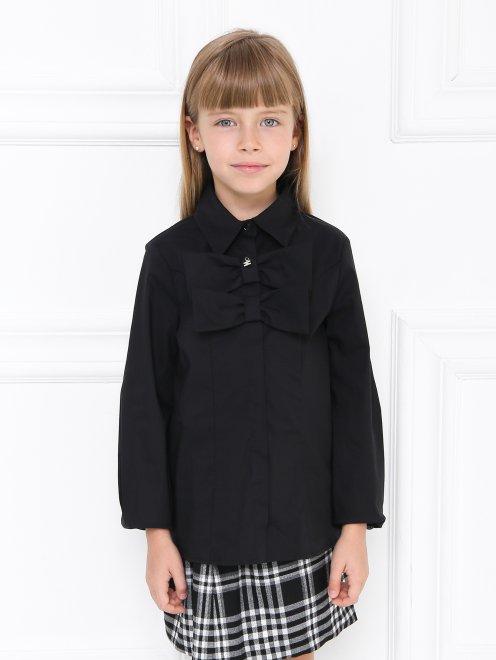 Рубашка хлопковая с бантиком - МодельВерхНиз