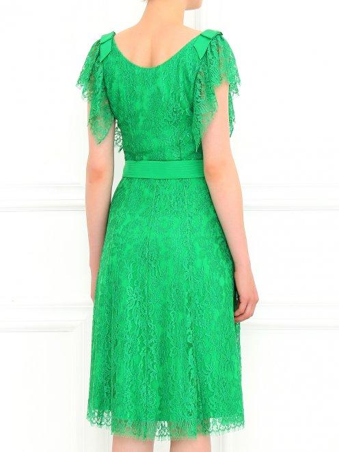 Платье-миди из кружева с поясом - Модель Верх-Низ1
