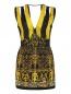 Платье-мини из фактурной ткани с вышивкой и аппликацией Barbara Bui  –  Общий вид