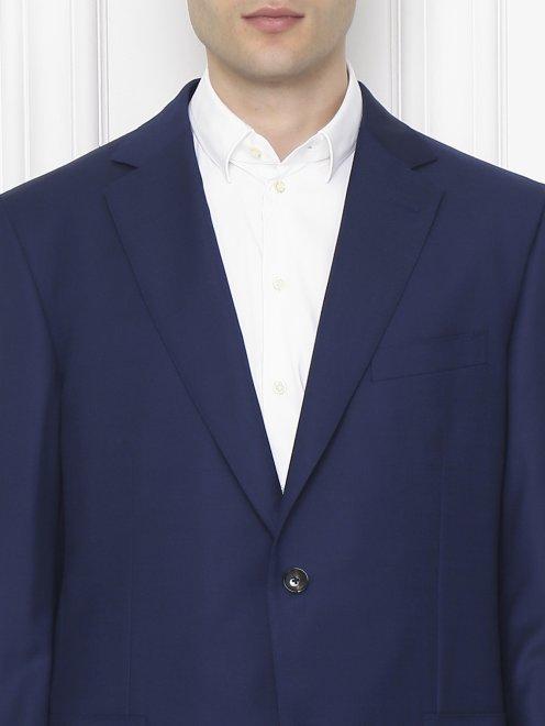Пиджак однобортный из шерсти  - МодельОбщийВид1