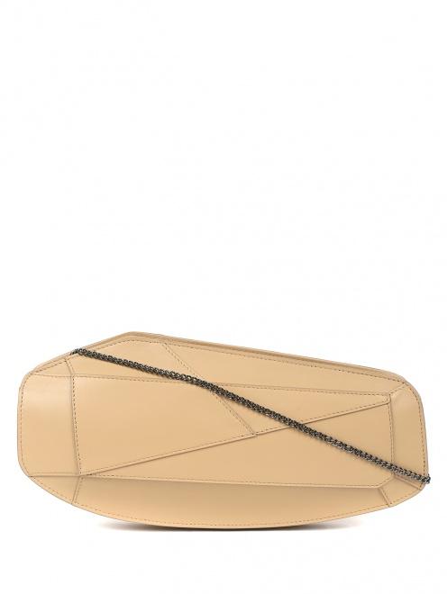 Клатч из кожи асимметричной формы - Общий вид