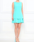 Босоножки из лаковой кожи с устойчивым каблуком декорированным перьями Moschino Couture  –  Модель Общий вид