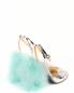 Босоножки из лаковой кожи с устойчивым каблуком декорированным перьями Moschino Couture  –  Обтравка2