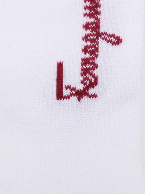 Носки хлопковые с логотипом  - Деталь1