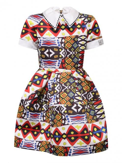 Платье с абстрактным узором - Общий вид
