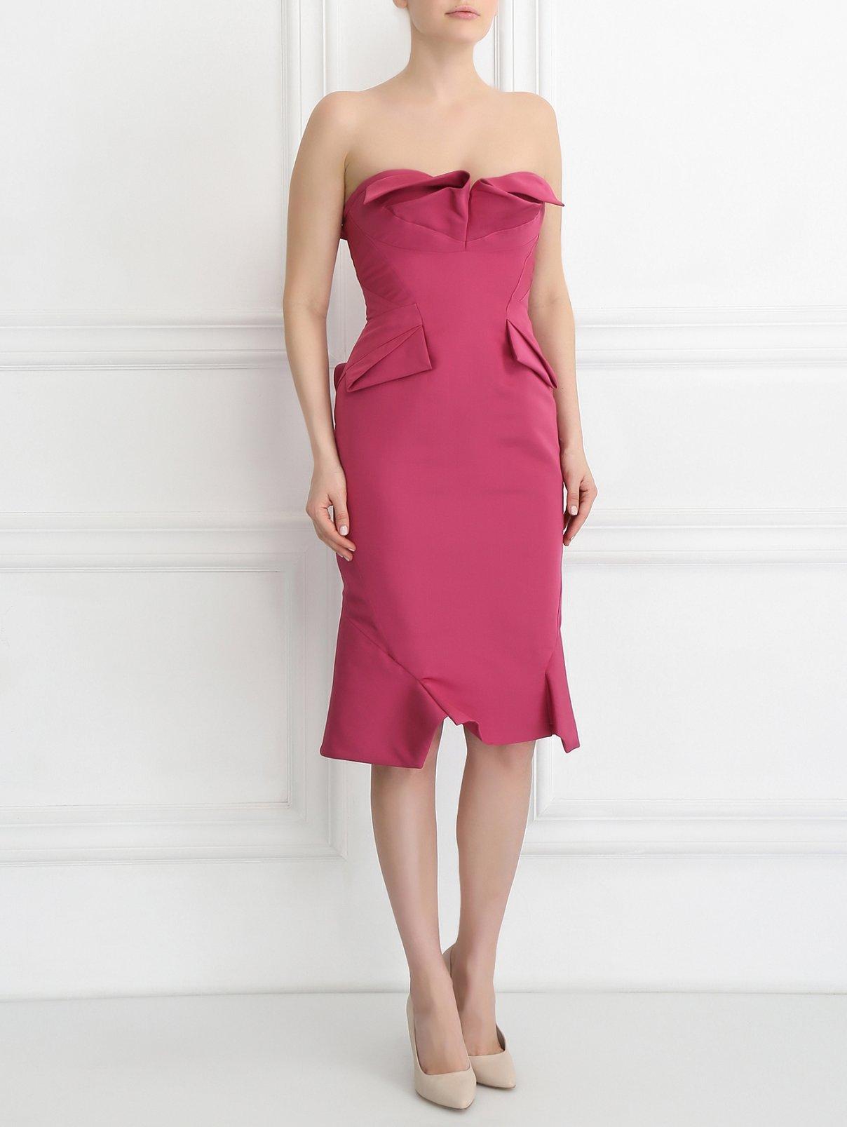Платье-футляр из шелка без рукавов Zac Posen  –  Модель Общий вид