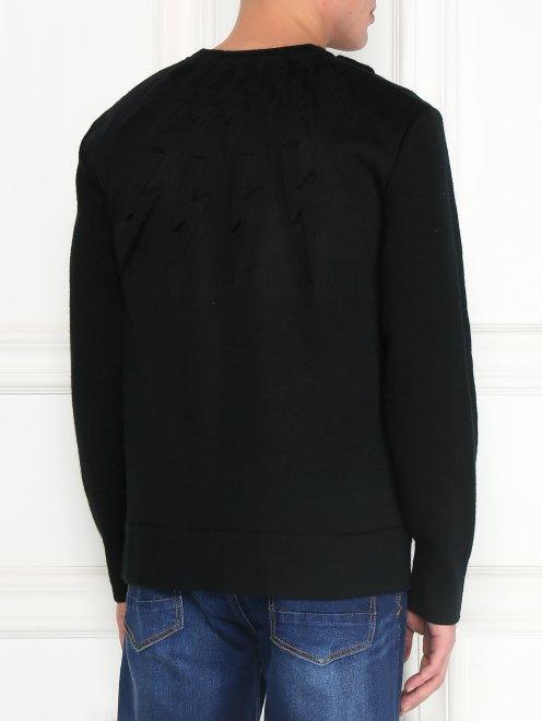 Джемпер из шерсти с узором - Модель Верх-Низ1
